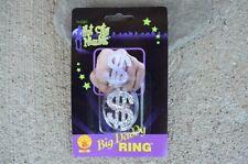 Big Daddy Single Dollar Sign Ring Pimp Gangster Hustler Costume Halloween