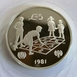 Malta: 5 Pounds 1981 Jahr des Kindes, Unicef, PP, A73B70