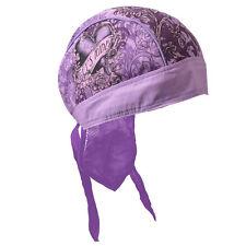Lady Biker Damen Kopftuch Bandana Headwrap Lets Ride Heart Purple Herz Violett