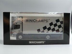 "Minichamps 1:43 Mercedes Atego 815 Koffer ""MINICHAMPS"" 550 pcs. 439037042 RARE!!"