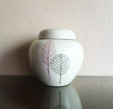 Vintage Bitossi Ginger Jar Vase w/ Rare Modernist Tree Decor, 1970 Nora Fenton