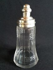 Saupoudreuse La Parfaite ancien verre métal argenté SGDG - Old sugar sprinkler