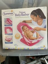 Summer Infant Deluxe Baby Bather Pink Dots New