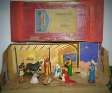 WEND-AL UNBREAKABLE TOYS VERY RARE VINTAGE 1948 BOXED ALUMINIUM NATIVITY SET