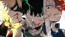 Poster 42x24cm Boku No Hero Academia Bakugou Midoriya Todoroki Manga Anime 03