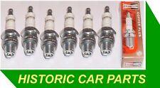 6 Short Reach Spark Plugs for Jaguar Mk 1 2.4 2483cc  7:1 Compression 1955-59