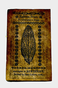 March 25, 1776 18 Pence New Jersey Colonial Note