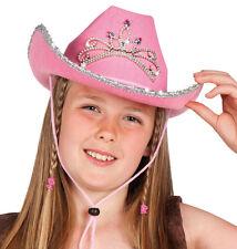 Glitter Cowboy Hut mit Diadem für Kinder NEU - Karneval Fasching Hut Mütze Kopfb