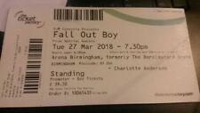2 x Fall Out Boy Tickets (Standing) - Birmingham - Tuesday 27th March - £70