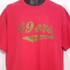 San Francisco 49ers Flag Football Mens T Shirt Vtg 80s Coach Made In USA Size XL