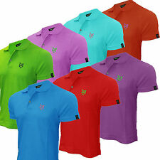 Mens Classic Polo Shirt Slim Fit Golf Urban Fox Short Sleeve Top New 100% Cotton