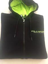 NWT Men's Polo Ralph Lauren Sport Full Zip Jacket Sweatshirt Hoodie Polo Black-L