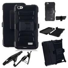 Huawei Raven LTE H892L Hybrid Armor Belt Clip Hard Case Cover Stand Black