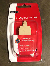 Belkin 2-Way Duplex Jack Phone Line Splitter