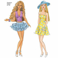 PATTERN for Formal Wedding Dress Doll clothes Simplicity 4719 Sporty Barbie DIY