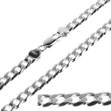 7.0mm 925 Solid Sterling Silver Curb Chain for Mens Womens Necklace 18 Inch 21g