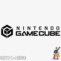 Gamecube Aufkleber Logo Sticker NINTENDO KONSOLE  NGC Label decal Black 17x3,8cm