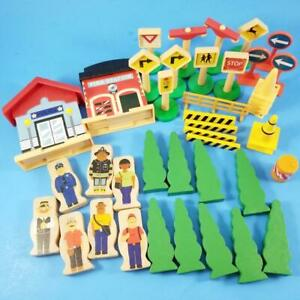 Thomas & Friends Wooden Railway Compatible Lot Building Police Tree People Signs
