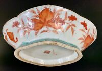 """Antique Tongzhi Chinese Porcelain Altar Footed Bowl-10.5"""" Iron Red - Late 19c"""