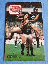 VFL Football Record 1978 Carlton V Geelong