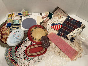 Vintage Rugs Area Rugs Carpets Pillows Many Handcrafted Dollhouse Miniature 1:12