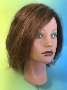CLiC mannequin head ANGEL  human hair cosmetology Creepy Scary Haunted Prop