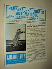 Prospectus Chargeur GIRARD Louvigné Tracteur Moissonneuse Tractor Brochure