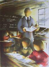 POULET Raymond : Le maître d'école - LITHOGRAPHIE signée et numérotée 450ex