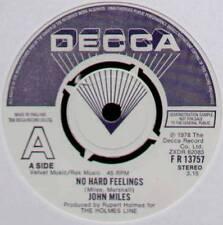 "JOHN MILES ~ NO HARD FEELINGS ~ 1978 UK ""DEMO"" 7"" SINGLE ~ DECCA FR 13757"
