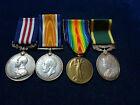 Orig WW1 Military Medal Grp Of 4  '102nd Battalion & Canadian Scottish Regiment'