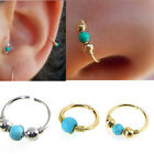 Surgical Steel Turquoise Nose Ring Hoop Tragus Helix Cartilage Piercing Earring