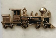 Lapel Gold Tone Steam Engine Railroad Train Locomotive Tie Tack Pin