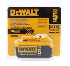 DEWALT DCB205 20V MAX XR 5.0Ah Lithium Ion Battery-Pack, retail package