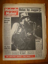 MELODY MAKER 1972 MAY 20 STONE THE CROWES KING CRIMSON