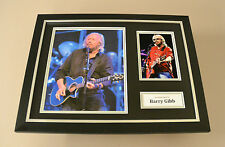 Barry Gibb Signed Photo Framed 16x12 Bee Gees Autograph Memorabilia Display +COA
