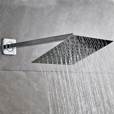 Stainless Steel Square Shower Head 8 Inch Rain Top Spray Wall Mount Shower Arm