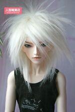 BJD doll wig 7-8 inch 18-20cm 1/4 BJD DOLL MSD Fur Wig Dollfie white M10