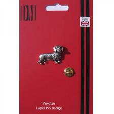 Dachshund Dog Pewter Lapel Pin Badge SAUSAGE OWNER LOVER CLUB Present GIFT BOX