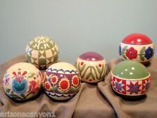 Jim Shore Decorative Set of 6 Balls w/Unique Nordic Designs 118690 New w/out Bx