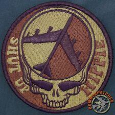 B-52 Morale Patch Dead Head Shut Up Hippie, Desert Subdued, Barksdale AFB 93d BS
