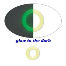 Glow in the Dark 10mm LatexFree Silicone 6mm Hole Bead Bumper Spacer O Ring 50pc