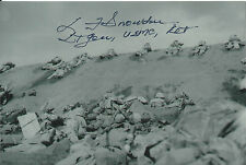 Lt Larry Snowden 4x6 Signed Photo Iwo Jima USMC Flags of Our Fathers World War 2