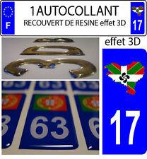 1 sticker targa auto 3D RESINA BANDIERA NAZIONE BASCO Euskadi17