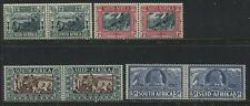 South Africa 1938 Voortrekker Semi-postal set in pairs mint o.g.