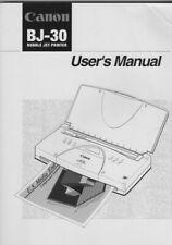 Canon BJ-30 Printer Manual