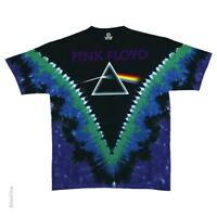 New PINK FLOYD Green Dark Side of the Moon Tie Dye T Shirt