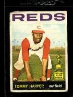 1964 TOPPS #330 TOMMY HARPER POOR REDS SET BREAK  *AA1435
