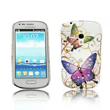 Design STRASS N. 3 BACK COVER CASE SAMSUNG GALAXY s3 MINI + Proteggi Schermo