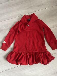 Red Girls Ralph Lauren Dress Age 3t