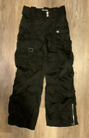 VINTAGE 90s GIRL'S LIMITED TOO BLACK PANTS SIZE 7 PARACHUTE NYLON PARATROOPER